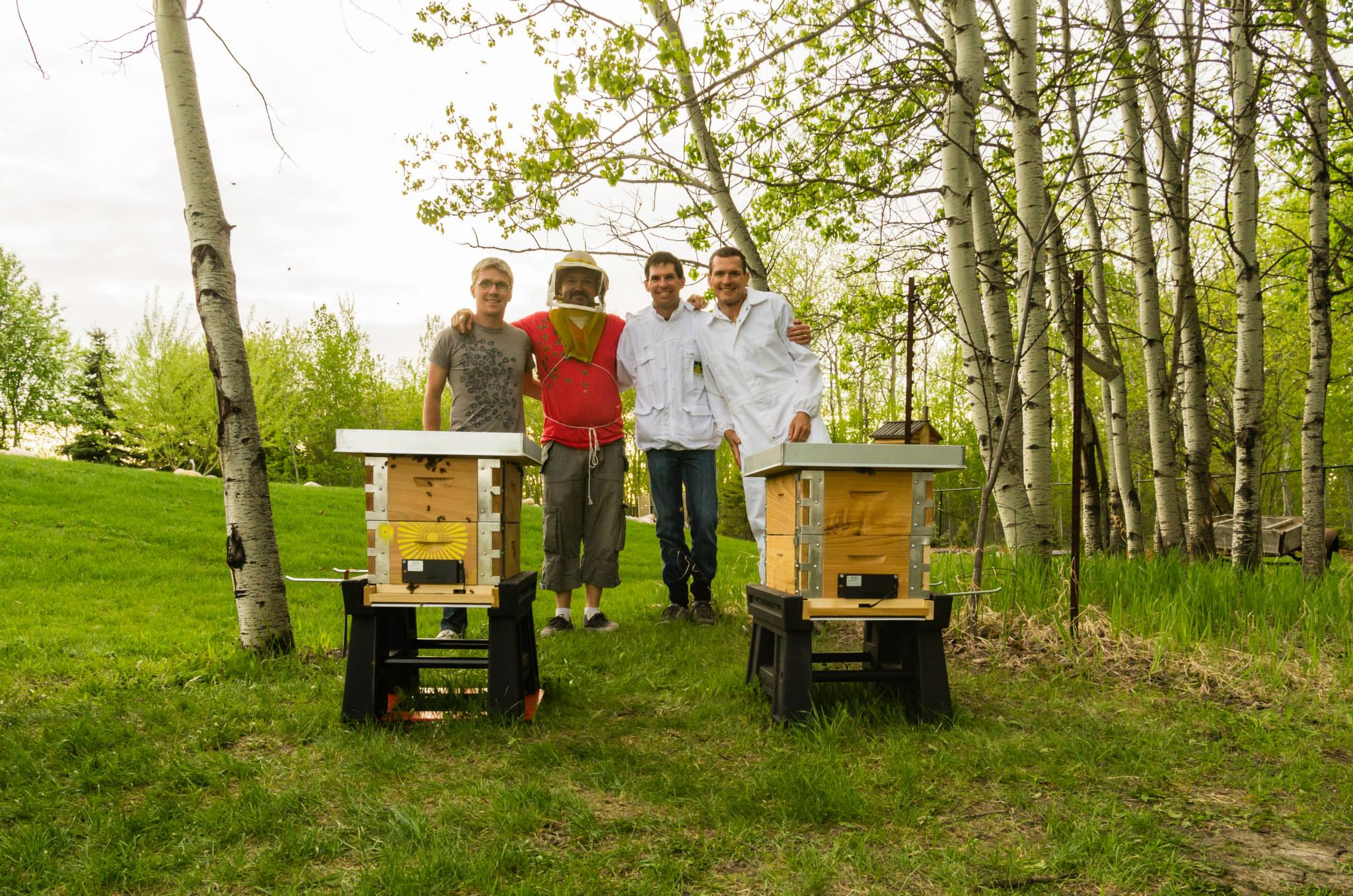 @YEGBees Crew, neighbours keeping bees together!